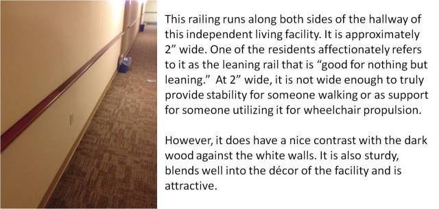 leaning rail