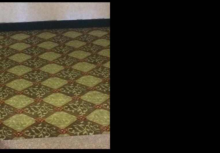 bright green square carpet